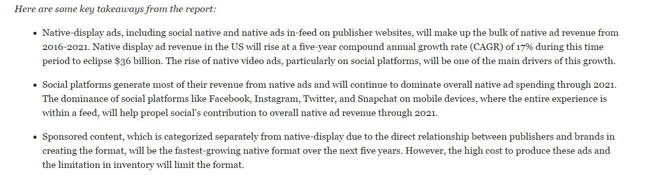 Native Ad Takeaways