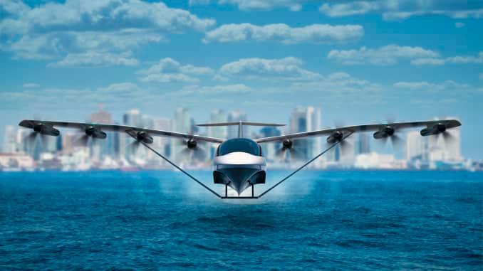 REGENT electric sea glider illustration