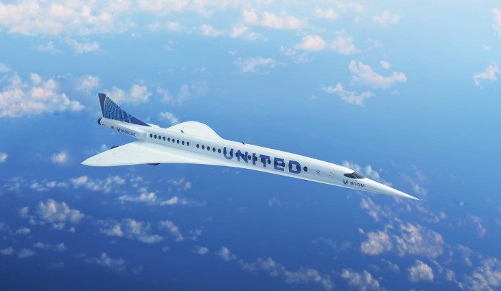 Boom Overture supersonic aircraft (render).